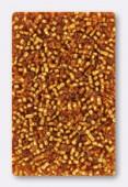 Miyuki Delica 11/0 DB1201 silver lined marigold x10g
