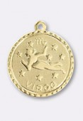 Estampe médaille astro vierge 18 mm or x1