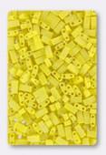 Miyuki Half Tila Beads HTL-0404FR opaque yellow matted AB x10g