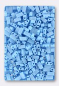 Miyuki Half Tila Beads HTL-0413FR opaque turquoise blue matted AB x10g