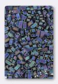 Miyuki Half Tila Beads HTL-0401FR matted multi iris x10g