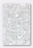 Miyuki Half Tila Beads HTL-0420 white pearl ceylon x10g
