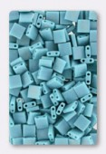Miyuki Tila Beads TL-0412FR opaque turquoise green matted AB x10g