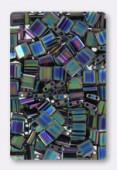 Miyuki Tila Beads TL-0455 metallic variegated blue iris x10g