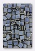 Miyuki Tila Beads TL-2002 matted metallic silver grey x10g