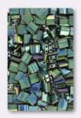 Miyuki Tila Beads TL-0468 metallic green iris x10g