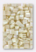 Miyuki Tila Beads TL-0486 ivory pearl ceylon AB x10g