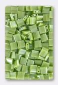 Miyuki Tila Beads TL-0439 opaque chartreuse luster x10g