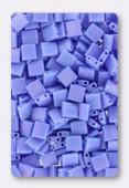 Miyuki Tila Beads TL-0417L/FR opaque periwinkle matted AB x10g