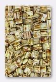 Miyuki Tila Beads TL-4512 picasso opaque canary yellow x10g