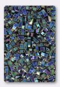 Miyuki Half Tila Beads HTL-0455 metallic variegated blue iris x10g