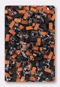 Miyuki Half Tila Beads HTL-4562 black sunset matted x10g