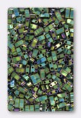 Miyuki Half Tila Beads HTL-0468 metallic green iris x10g
