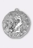 Estampe médaille guerrier 23 mm argent x1
