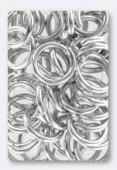 Anneau brisé 16 mm argent x 6