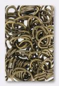 Anneau brisé 15x10 mm bronze x 12