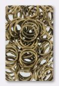 Anneau brisé 12 mm bronze x 12
