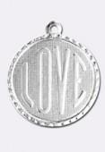 Estampe médaille Love 18 mm argent x1