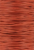Coton ciré Haute Fantaisie 1.2 mm brique x1m