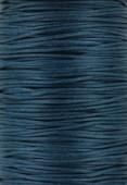 Coton ciré Haute Fantaisie 1.2 mm bleu canard x1m