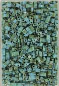 Miyuki Half Tila Beads HTL-4514 picasso opaque seafoam green x10g