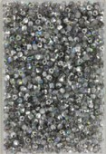 Facette 2 mm crystal silver rainbow x50