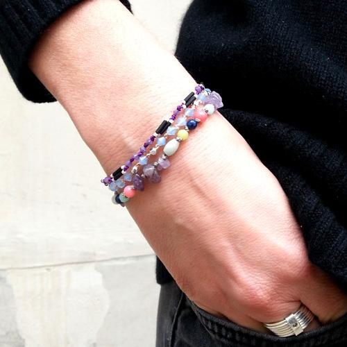 bracelets en fil de soie atelier matiere premiere