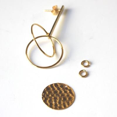 Boucles d'oreilles Saturne matiere premiere