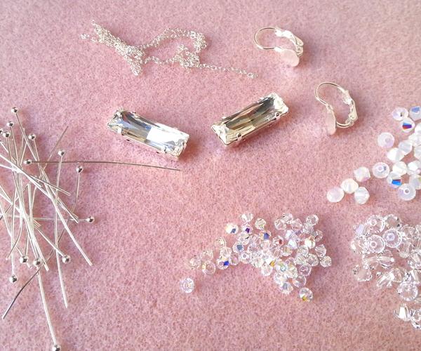 1 boucles d'oreilles Princess atelier matiere premiere