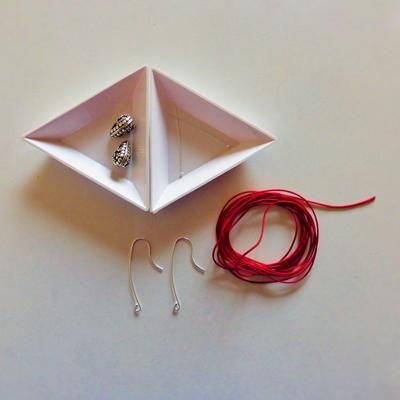 1 boucles d'oreilles macramé atelier matiere premiere