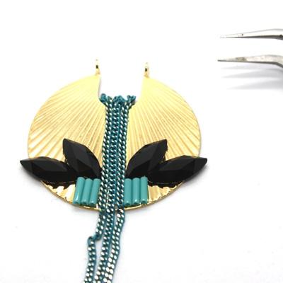 Boucles d'oreilles lotus matiere premiere