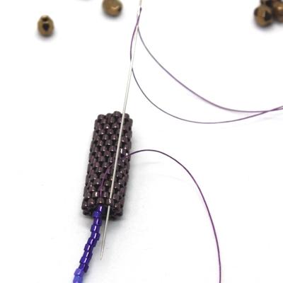 boucles d'oreilles ultra violet matiere premiere