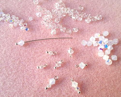 5 boucles d'oreilles Princess atelier matiere premiere