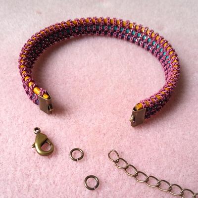 6 bracelet croisette atelier matiere premiere