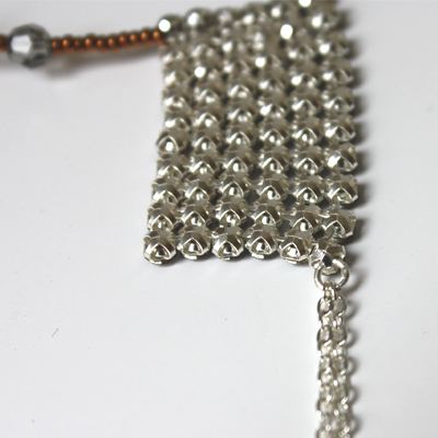 collier crystal mesh matiere premiere