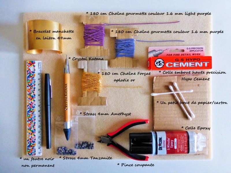materiel necessaire manchette spaghetti atelier matiere premiere
