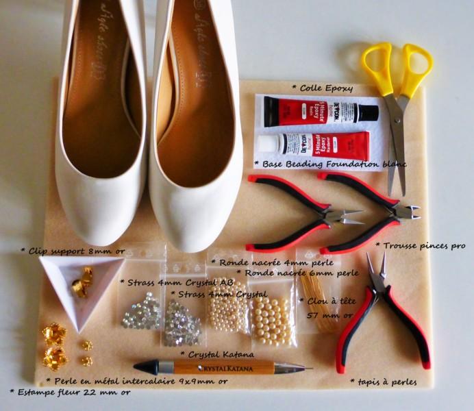 materiel necessaire les chaussures de la mariée atelier matiere premiere