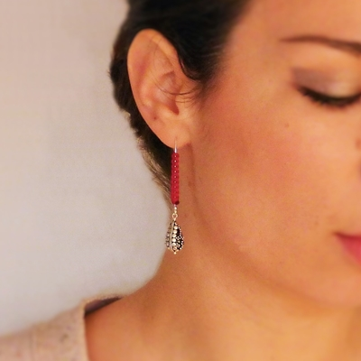 10 boucles d'oreilles macramé atelier matiere premiere