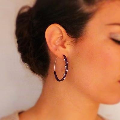20 boucles d'oreilles macramé atelier matiere premiere