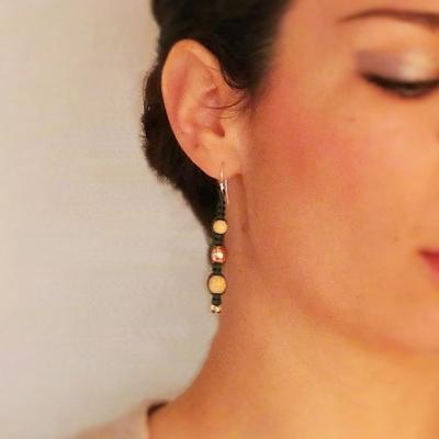 27 boucles d'oreilles macramé atelier matiere premiere