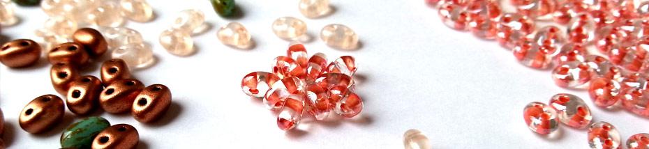 Twin beads Preciosa Matière Première