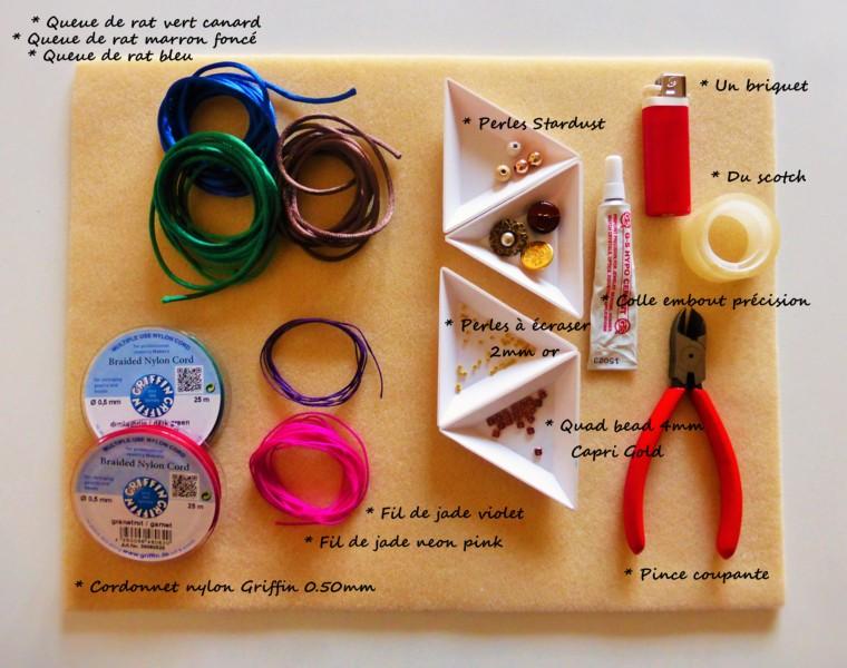 materiel necessaire technique du fishtail atelier matiere premiere